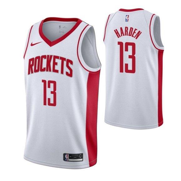 Rockets James Harden White Jersey